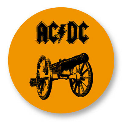 Pin Button Badge Ø25mm ACDC Hard rock Heavy Metal Angus Malcolm Young