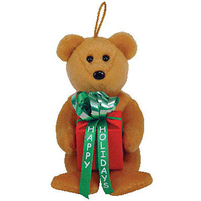 TY Jingle Beanie Baby - GIFTS the Bear (5.5 inch) - MWMT's Christmas Ornament