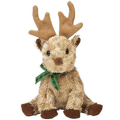 TY Jingle Beanie Baby - RUDY the Reindeer (4.5 inch) - MWMT's Christmas Ornament