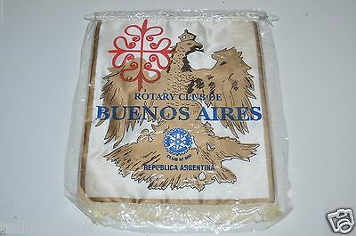 MINTY Vintage Buenos Aires Republica Argentina Rotary International Club Banner
