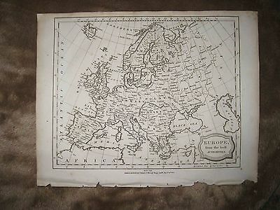 Superb Antique 1805 Europe Copperplate Dated Map Huge Poland Russia Hungary Nr