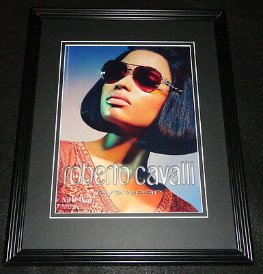 Nicki Minaj 2015 Roberto Cavalli Eyewear Framed 11x14 ORIGINAL Advertisement