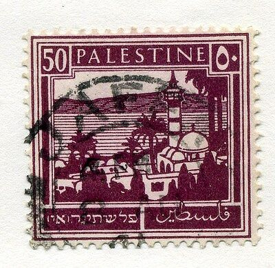 PALESTINE;   1927-45 early issue fine used value 50m.