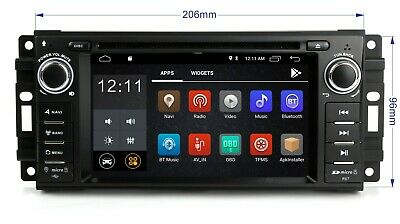 Android WiFi Car Radio GPS Navigation DVD Player For Dodge Grand Caravan Nitro