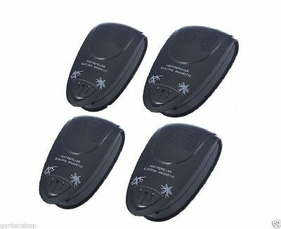 4 x Magnetic Ultrasonic Electronic Pest Mouse Bug Mosquito Insect Repeller US