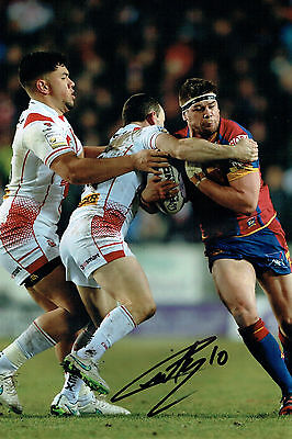 Remi CASTY Signed Catalan Dragons Rugby League Autograph 12x8 Photo AFTAL COA
