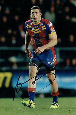 Ben POMEROY Signed Catalan Dragons Rugby League Autograph 12x8 Photo AFTAL COA