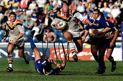 Paul ANDERSON Signed Rugby Huddersfield Coach Autograph 12x8 Photo AFTAL COA