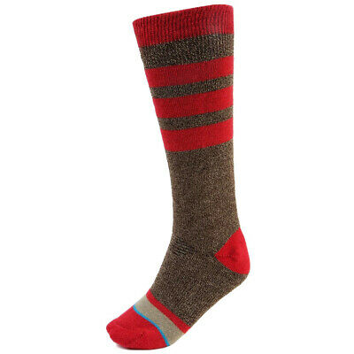 New Stance Boot Monkey Kids Merino Wool Snowboard Socks (US 2 - 5.5) Brown