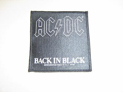 "AC/DC  -  Sew-on import Patch ( Back in Black) - Exc. New cond. - 4"" square"