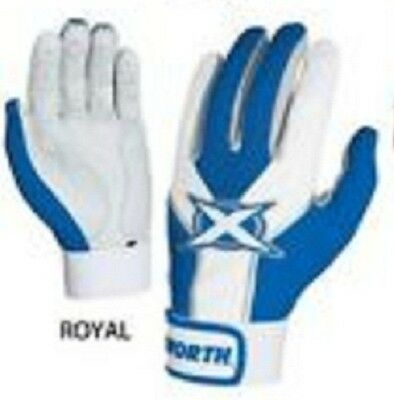 Worth TOXBG Adult Royal / White Large Toxic Batting Gloves New In Wrapper!