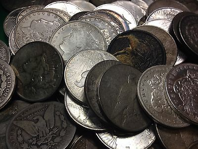 CULL (1) $1 Morgan or Peace Silver Dollar Junk Silver 90% US Coin Collection Lot