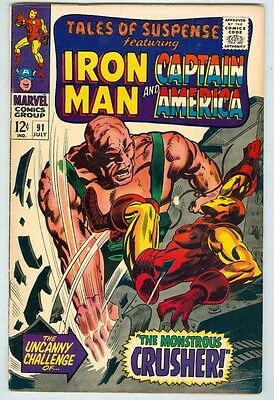 Tales of Suspense #91 July 1967 FN