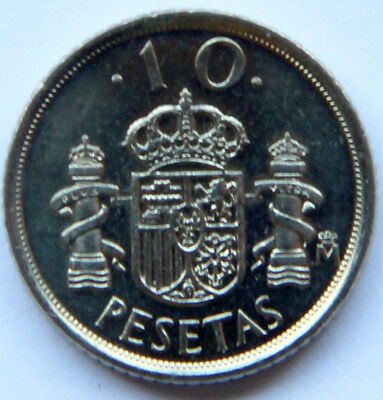 SPAIN JUAN CARLOS I SET OF 6 COINS 5 PESETAS FROM 1993 TO 1999 MINT ROLL