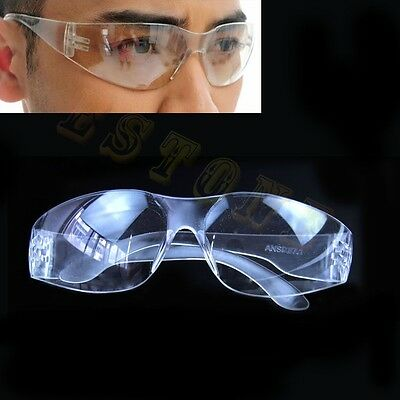 Lab Medical Eyewear Clear Safety Eyes Protective Goggles Glasses Anti-fog Dust