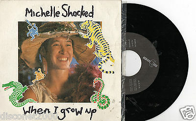 "MICHELLE SHOCKED  – When I Grow Up / 5 A.M. In Amsterdam, EP 7"" SPAIN RARE 1989"