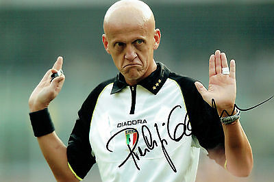 Pierluigi COLLINA Signed Autograph 12x8 Photo AFTAL COA World Cup Referee