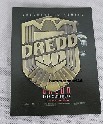 JUDGE DREDD BADGE 2012 Movie Promotional Badge SDCC