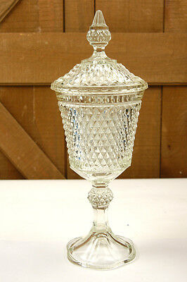 """GLASS CANDY DISH COMPOTE 16"""" TALL WITH A LID (W-4-B-6-17)"""