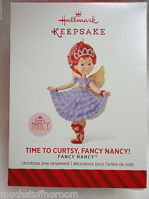 2014 Hallmark Christmas Ornament NEW Time to Curtsy FANCY NANCY purple dress