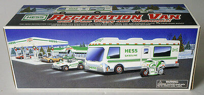 1998 HESS Gasoline RECREATION VAN with DUNE BUGGY MOTORCYCLE NIB unopened new