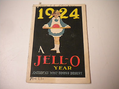 Vintage 1924, A Jell-O Year, Advertising Recipe Book