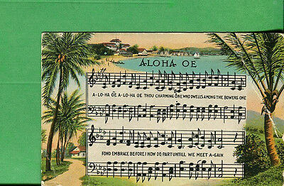 Hawaii Postcard Unused Aloha OE - Song, Meaning & Musical Notes  - P866