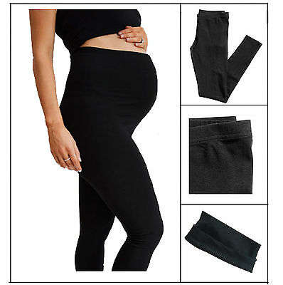 Black Maternity Leggings -  Very Comfortable Full Length Leggings V1