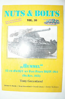WW2 German Nuts and Bolts 10 Hummel 15cm sFH 18/1 Reference Book