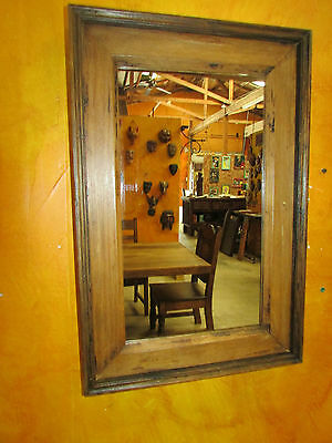 Rustic Old Door Mirror--Mexican-14.5x22-Western-Antique-Primitive-Wall-Gorgeous