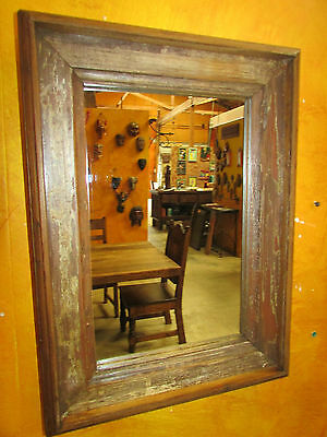Rustic Old Door Mirror--Mexican-13x18-Western-Antique-Primitive-Wall-Gorgeous