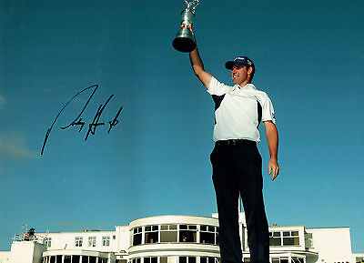 Padraig HARRINGTON Signed Autograph 16x12 Photo Carnoustie GOLF AFTAL COA