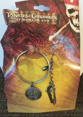 Pirates of the Caribbean At World's End Dangling Earring w. Charms & Hoop NWT
