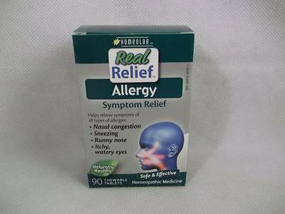 Homeolab Real Relief Allergy Chewable Tablets Homeopathic Medicine CHOICE