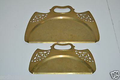 WOW Nice Vintage Brass Ornate Etched & See Through Old Crumb Cacther Set Rare