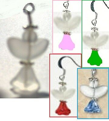 EARRING KITS Angels  White, Pink, Red, Green, Blue  Beads Findings Earrings NEW