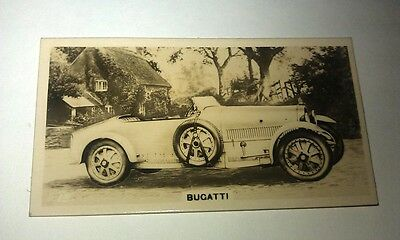 BUGATTI -   -  Wills New Zealand Real Photo Cigarette Card Issued 1926