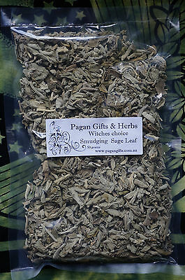 Smudge White sage leaf pagan wicca cleanse sacred ritual Purify witch 50grams