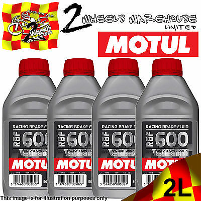 1x 2x 3x 4x MOTUL RBF 600 DOT4 SYNTHETIC RACING RACE BRAKE FLUID 500ML BIKE CAR