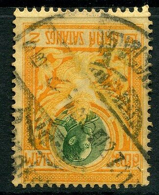 THAILAND;  1910 Royal issue fine used value, good POSTMARK of the 2s.