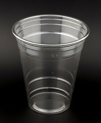 100 PET Clear Cup 12 oz, 350-400ml, glasklar, Clearcups Cocktailbecher