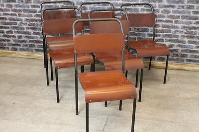 Industrial Du-Al Stacking Chairs Original Retro Chairs Large Quantity Available