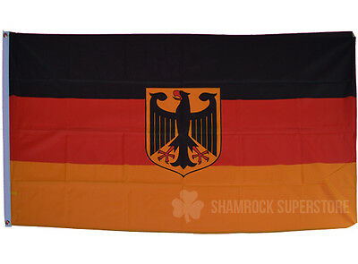 GERMANY STATE EAGLE CREST 5x3' FLAG - GERMAN NATIONAL DEUTSCHLAND 100% POLYESTER