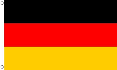 Germany National Country Flag - Large 5 x 3' - 100% Polyester Football German