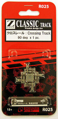 Rokuhan R025 90º Crossing Track 1pc. (1/220 Z Scale)