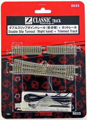 Rokuhan R035 Double Slip Turnout (Right Hand) & 53.6mm Track (1/220 Z Scale)