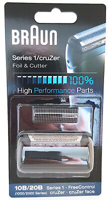 GENUINE BRAUN 20S 2000 Series Cruzer Shaver Replacement Foil Cutter 20Z 30Z 40Z