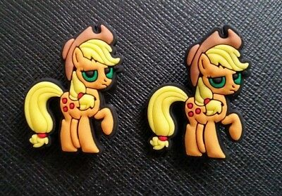 2 x My Little Pony Apple Jack Croc Shoe Charms Jibbitz Crocs Wristbands