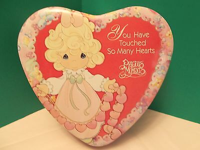 "Precious Moments Heart Shaped Collectors Tin ""You Have Touched So Many Hearts"""