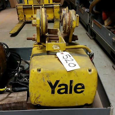 (#520) 1/2 ton electric chain hoist -15' lift with push trolley-3 phase